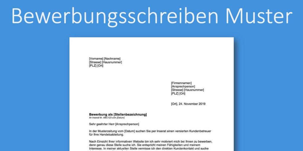 Bewerbungsschreiben Muster Kostenlos Downloaden Schweiz Vorla Ch