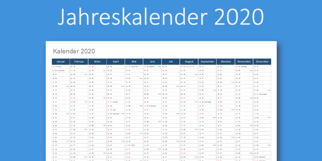 kalender 2020 mit wochen