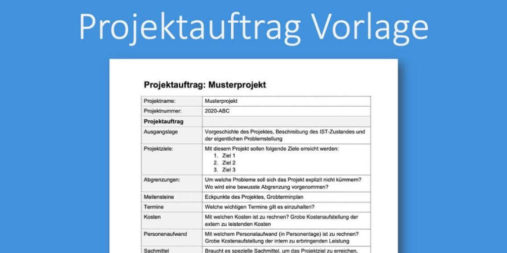 Projektauftrag Vorlage Word Format Kostenlos Downloaden