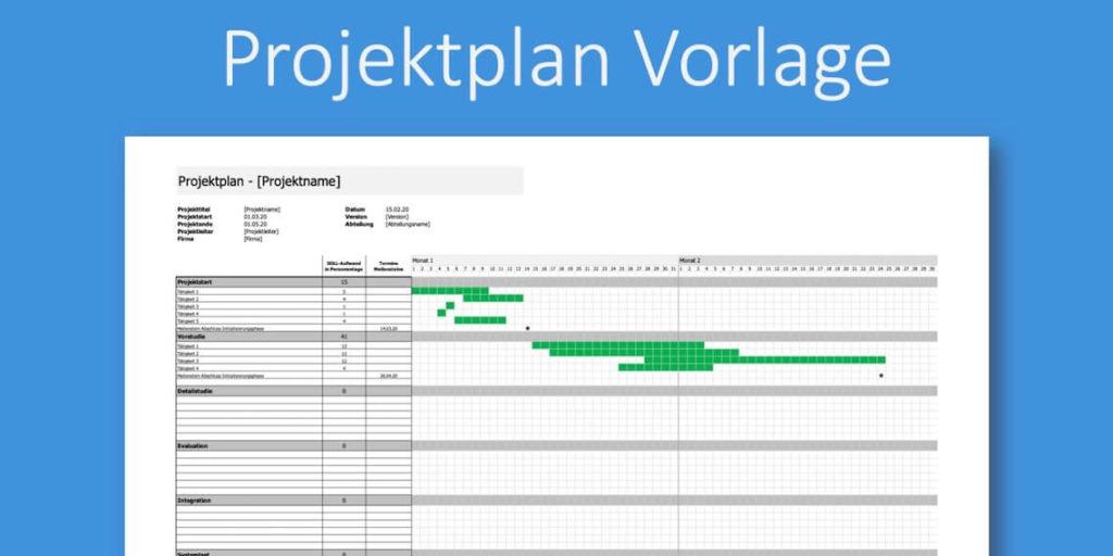 Projektplan Excel Kostenlose Vorlage Zum Downloaden 2
