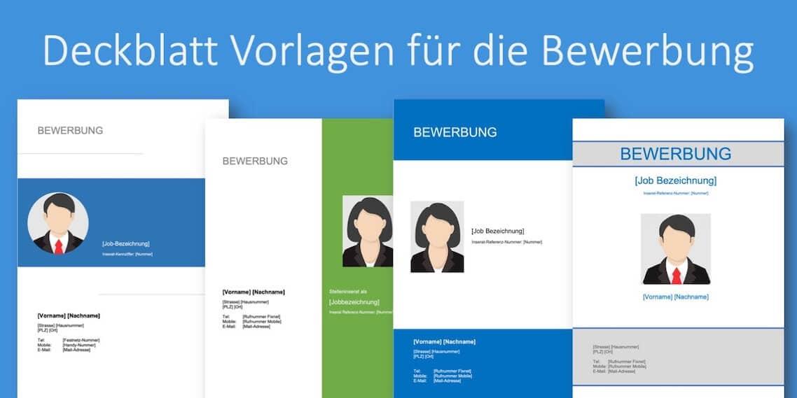 Deckblatt Bewerbung Tipps Kostenlose Vorlagen Zum Download
