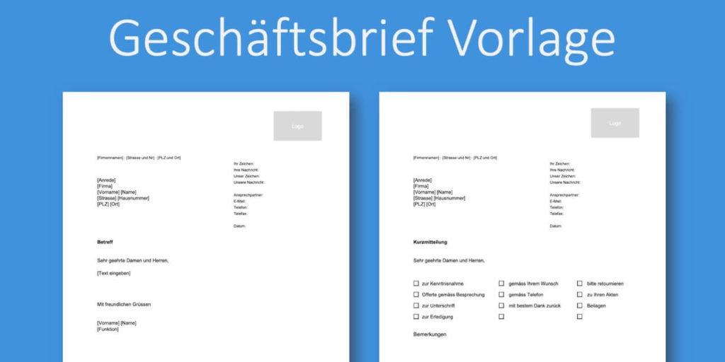 Geschaftsbrief Vorlage Schweiz Kostenlose
