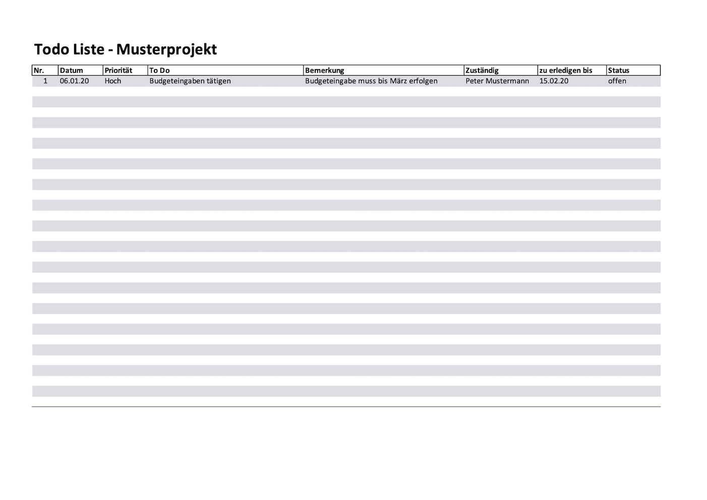 Einfache Todo Liste Alle Meine Vorlagen De