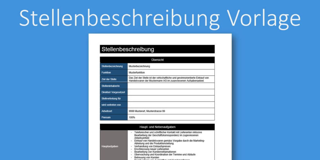 Stellenbeschreibung Kapitel 095 Business Wissen De 13