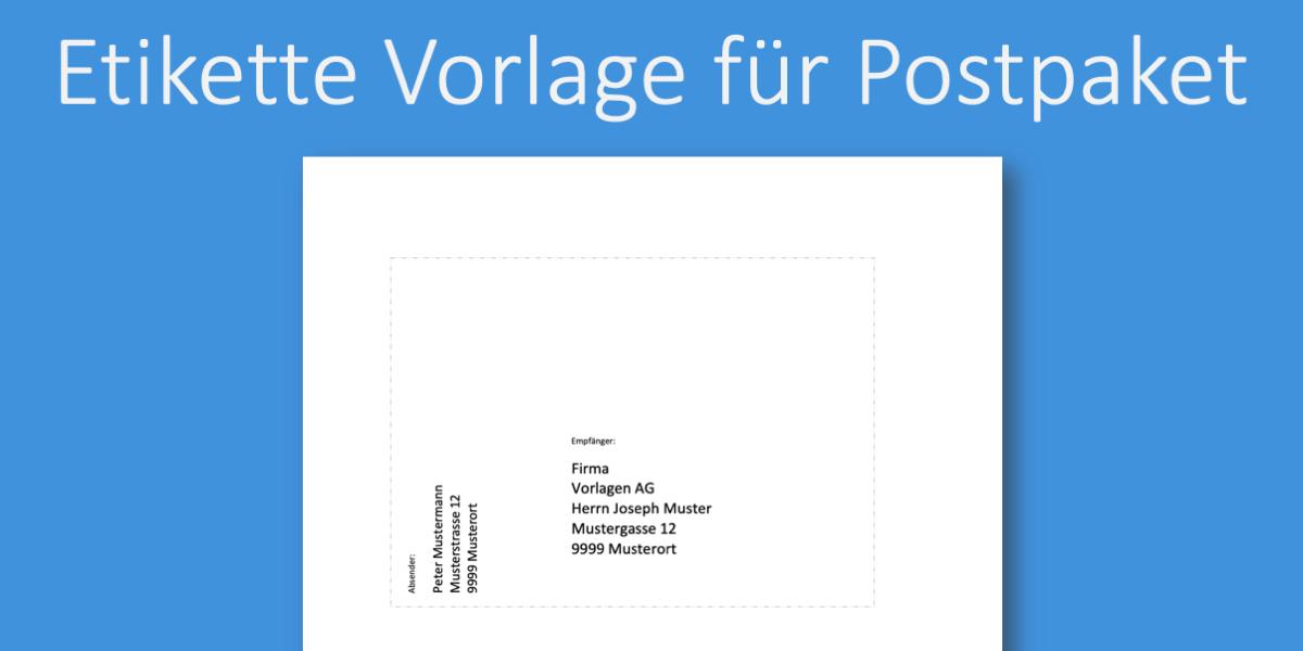 Paketetikette Vorlage Kostenlose Word Vorlage Vorla Ch
