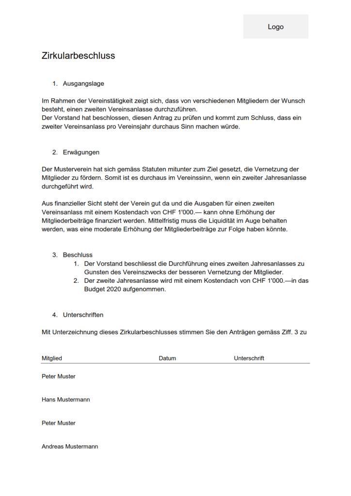 inhaltsverzeichnis vorlage ohne datum  traktandenliste