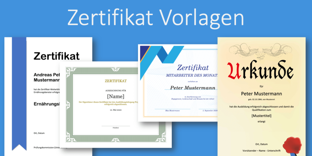 Zertifikat Vorlage Zum Ausdrucken Kostenlose Word Vorlagen Vorla Ch