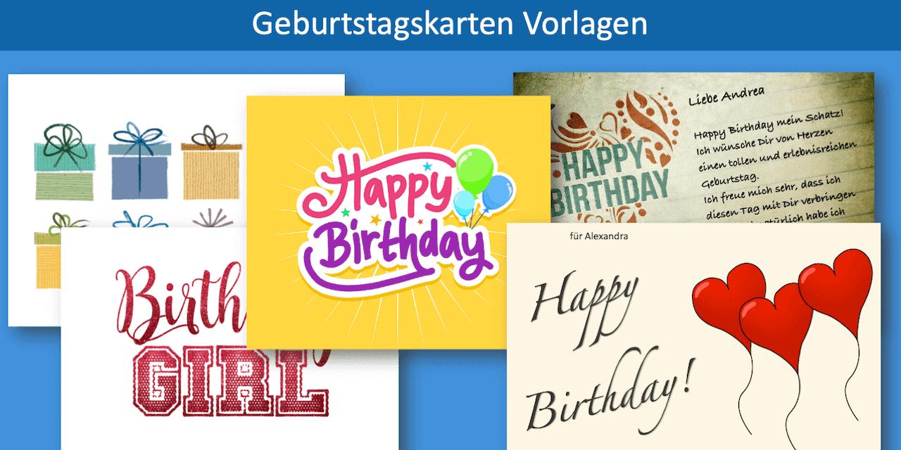 Geburtstagskarte kostenlos drucken