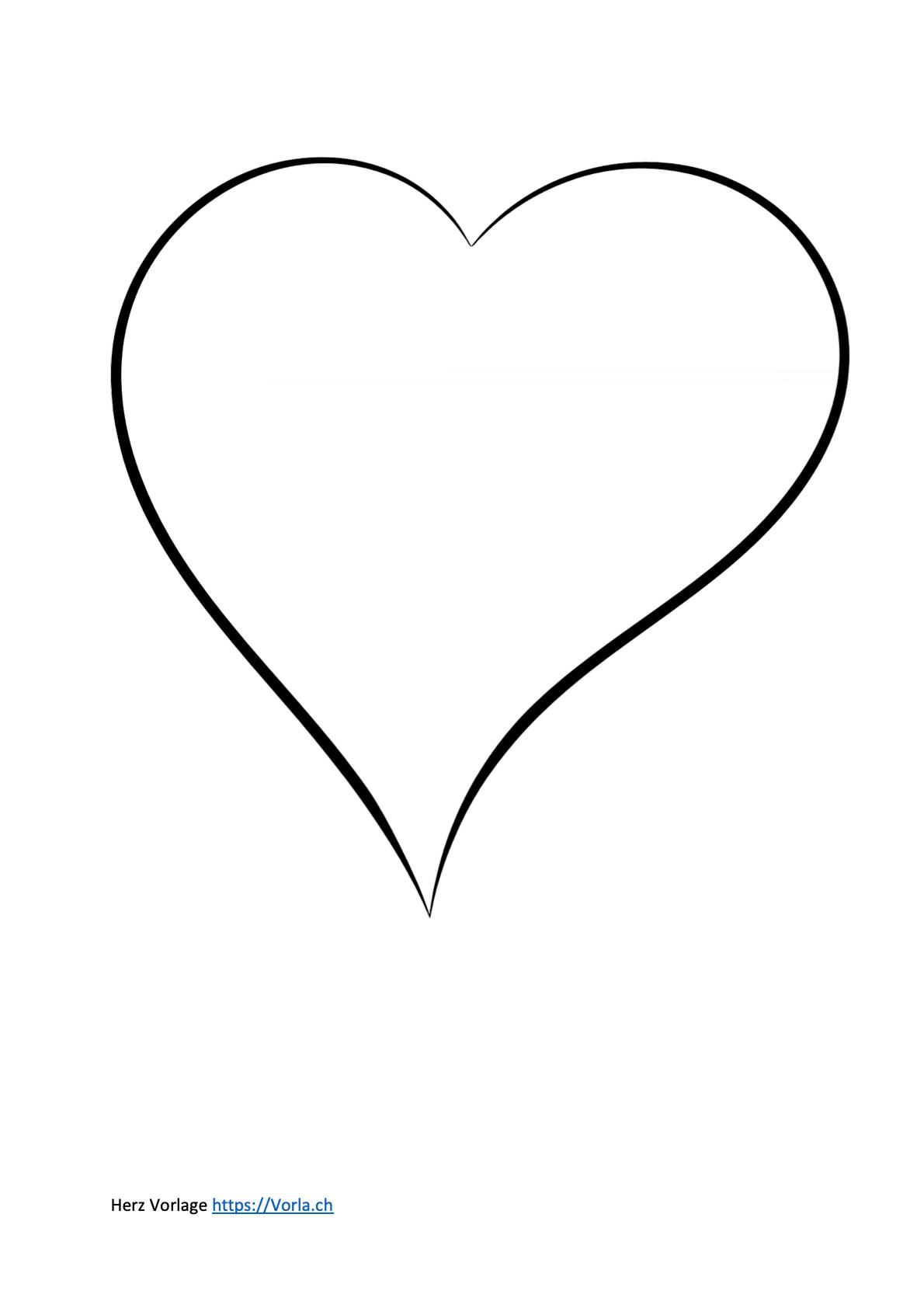 Vorlage Herzen Schablonen Vorlagen Herzschablone 6